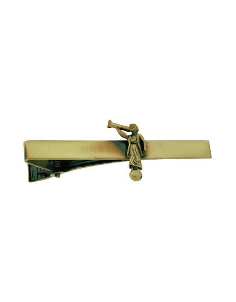 Angel Moroni Antique Gold Tie Bar