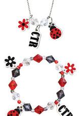 Ladybug CTR Necklace & Bracelet Set