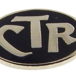 CTR Tie Pin Silver Finish Black Background