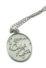 I Am A Child Of God Silver Finish Necklace