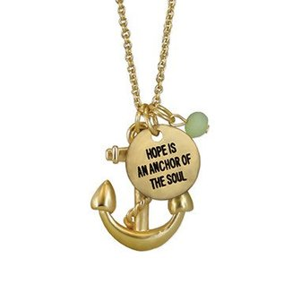 Anchor Necklace Gold Finish
