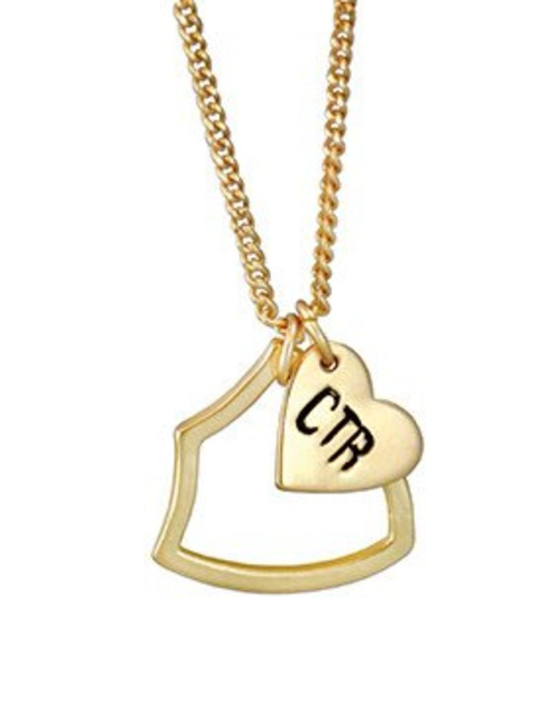 CTR Shield with Heart Necklace