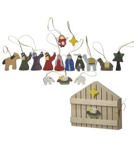 Wooden Boxed Hanging Nativity