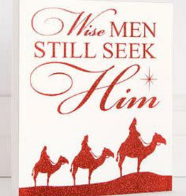 adams&co Wise Men Still Seek Him Glitter Sign Red