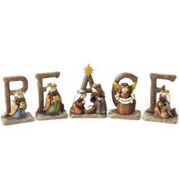 PEACE Nativity Sign