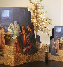 Nativity 4 piece diorama by greg olsen small