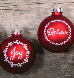 Sentiments of Christmas Bauble Set of 4