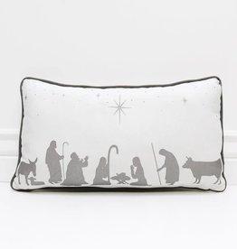 adams & co Nativity Silver Cushion