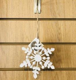 White Wooden Snowflake design 1