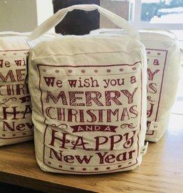 We Wish You A Merry Christmas DOORSTOP