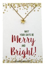 Merry & Bright Gold Star Necklace