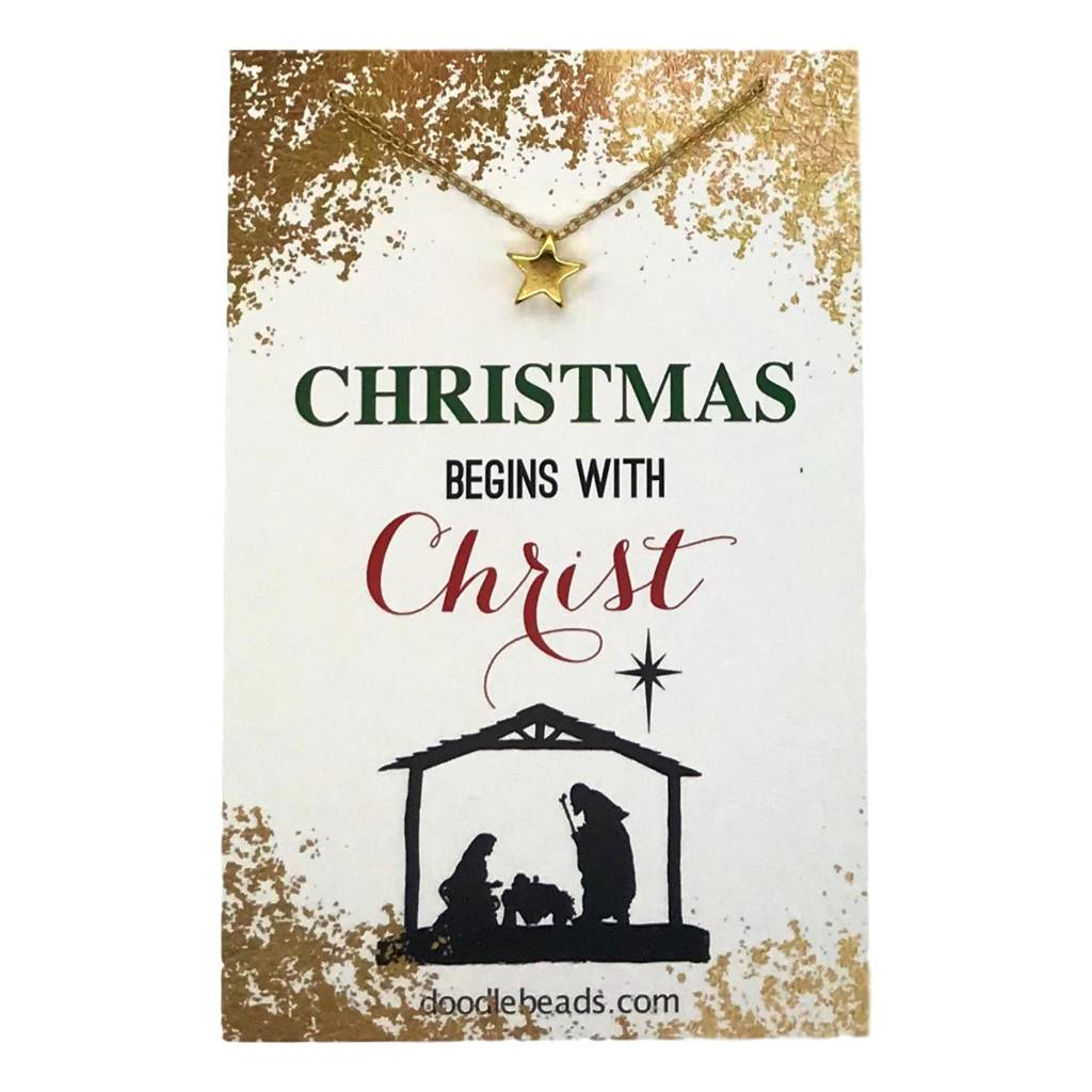Christmas Begins with Christ Necklace