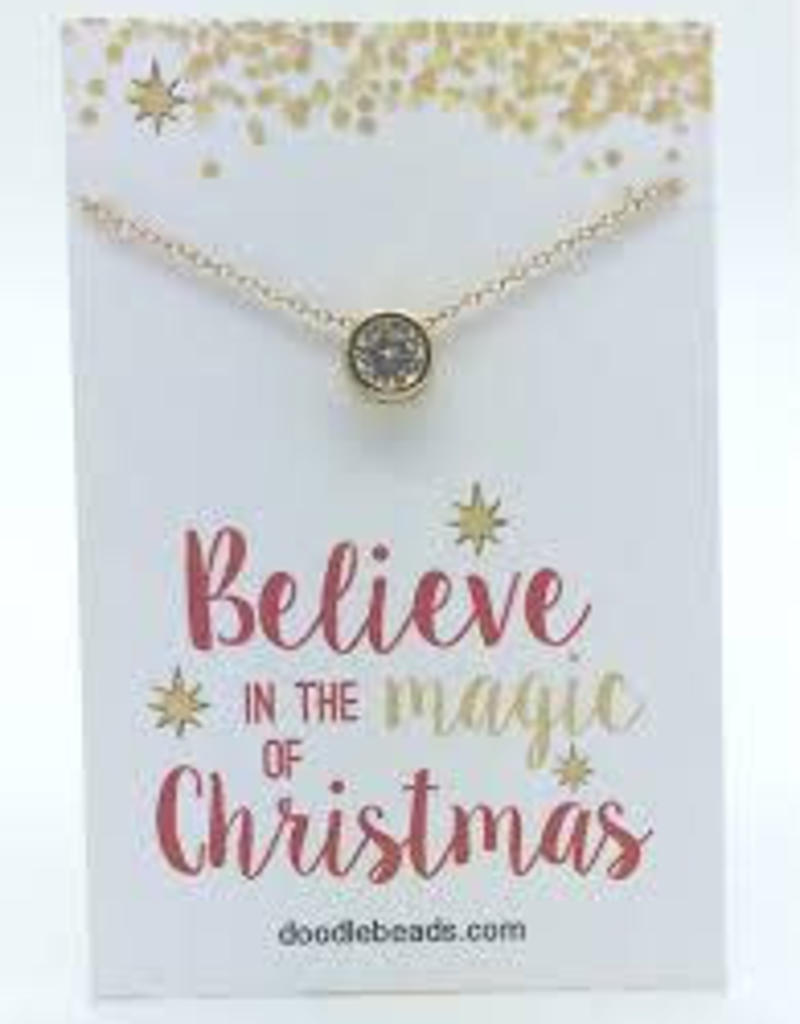 Magic Of Christmas.Believe In The Magic Of Christmas Golden Gem Necklace
