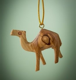 earthwoodproducts Olive Wood Camel Hanging Decoration