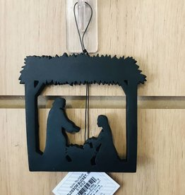 blossom bucket Silhouette Hanging Nativity Scene