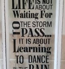 Learning To Dance In The Rain Glass Plaque