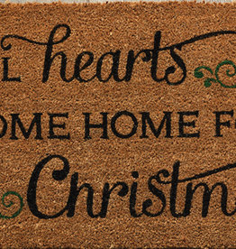 All Hearts Come Home For Christmas Door Mat
