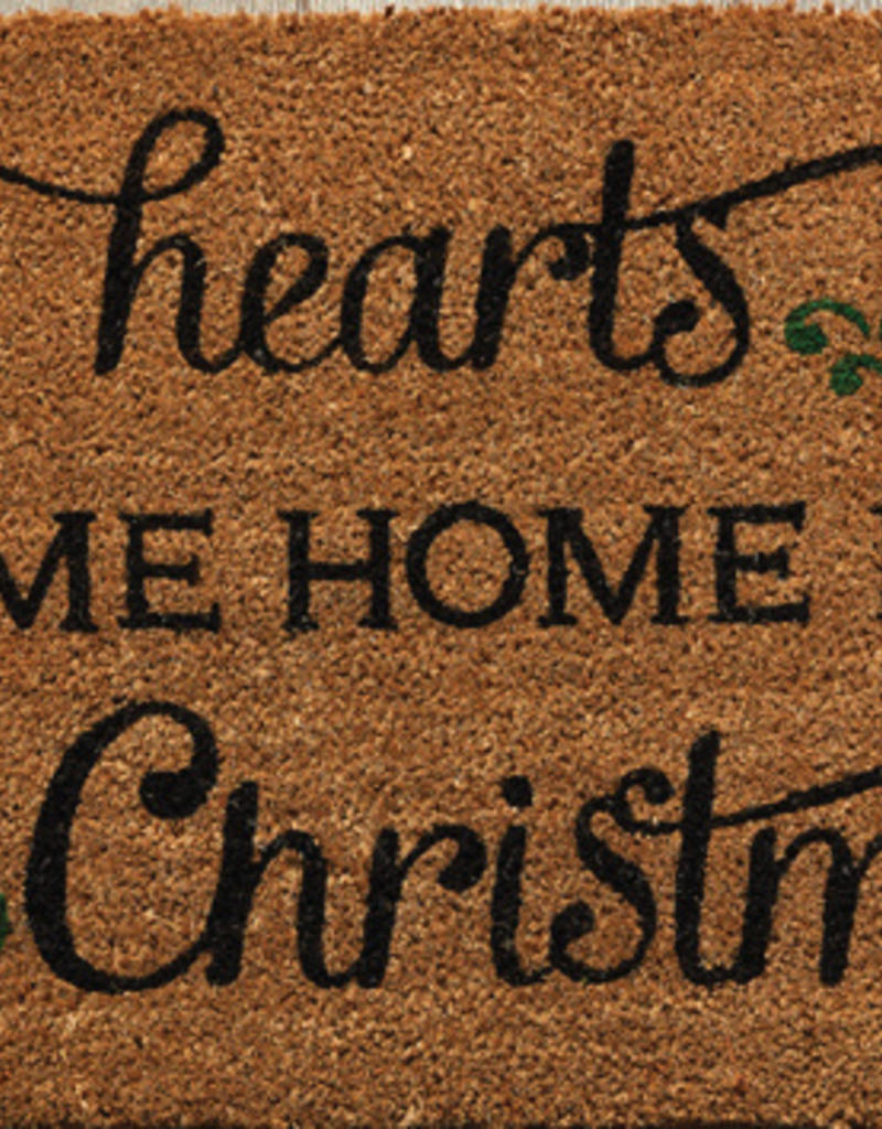 Come Home For Christmas.All Hearts Come Home For Christmas Door Mat
