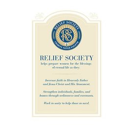 Church Distribution Relief Society Poster