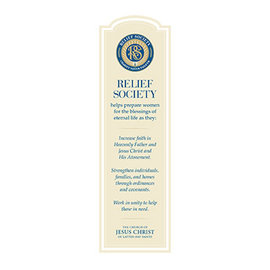 Church Distribution Relief Society Bookmark