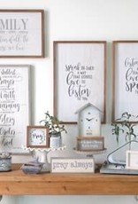 "Establish A House Of Prayer Wall Plaque 27"""