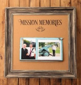 16'' X 16'' MISSION MEMORIES CORKBOARD