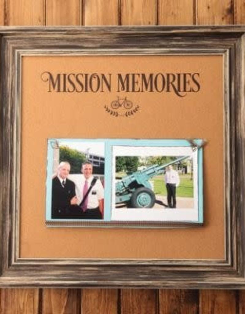 16'' X 16'' MISSION MEMORIES CORKBOARD