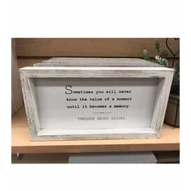 Seagull Books SOMETIMES YOU WILL NEVER WALL ART WHITE 6'' X 11''