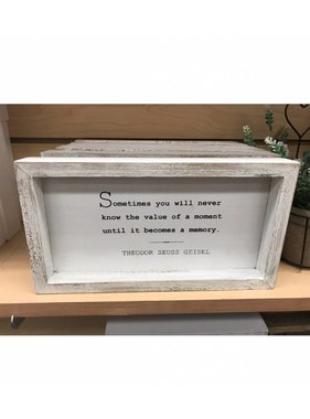 SOMETIMES YOU WILL NEVER WALL ART WHITE 6'' X 11''