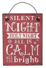 Silent Night Small Metal Sign