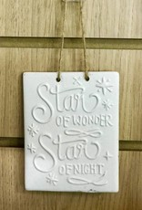 Star of Wonder Ceramic Hanging Sign