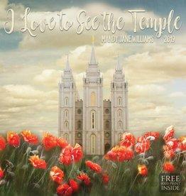 Altus fine art 2019 Mandy Jane Williams calendar - I Love to see the Temple