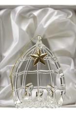 Boxed Glass Nativity Scene