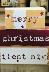Merry Christmas, Silent Night wooden Blocks