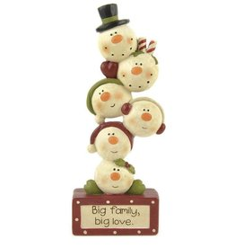 Big Family Big Love Snowmen ornament
