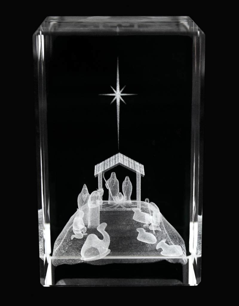 Nativity Crystal Cube