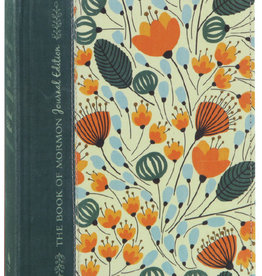 PRE-ORDER (Available February 2019)The Book of Mormon, Journal Edition Orange Floral Hardcover by Deseret Book Company