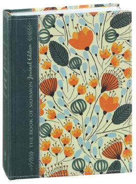 The Book of Mormon, Journal Edition Orange Floral Hardcover by Deseret Book Company