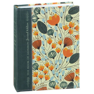 Deseret Book Company (DB) The Book of Mormon, Journal Edition Orange Floral Hardcover by Deseret Book Company