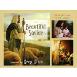 "Covenant Communications Beautiful Savior Cards, picture packet containing fifteen 3"" x 4"" prints from the best-selling book"