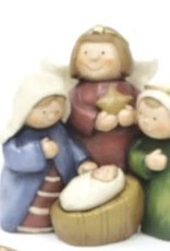 Small Nativity Blue & Red