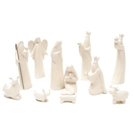 Dolomite White Nativity Set