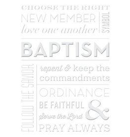 """White Embossed """"Baptism"""""""