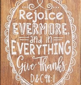 In Everything Give Thanks Wooden Plaque