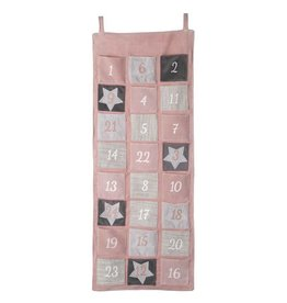 PINK AND GREY FABRIC ADVENT CALENDAR