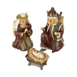 Forest Friends Nativity Scene