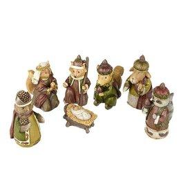 Forest Friends Nativity set 7 pieces