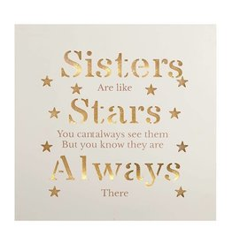 Light Up Plaque - Sister, Star, Always