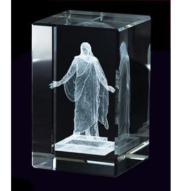 Laser Engraved Crystal Cube - Christus