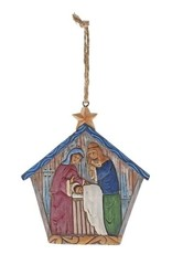 enesco Folklore by Jim Shaw Holy Family Hanging Ornament